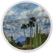 Arizona Snow Round Beach Towel