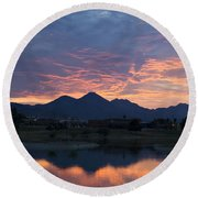 Arizona Sunset 2 Round Beach Towel