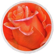 Arizona Territorial Rose Garden - Orange Flame Round Beach Towel