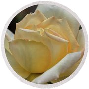Round Beach Towel featuring the digital art Arizona Territorial Rose Garden - Pale Yellow  by Kirt Tisdale