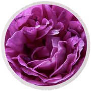 Arizona Territorial Rose Garden - Purple Dance Round Beach Towel by Kirt Tisdale