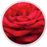 Round Beach Towel featuring the digital art Arizona Territorial Rose Garden - Red Velvet by Kirt Tisdale