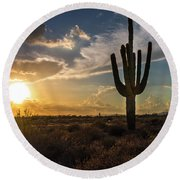 Arizona Vibes Round Beach Towel
