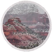 Arizona Winter Round Beach Towel