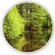 Round Beach Towel featuring the photograph Arkansas Bottomlands by Nicholas Blackwell