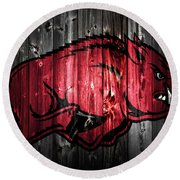 Arkansas Razorbacks 2a Round Beach Towel by Brian Reaves