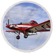 Arkansas Razorbacks Crop Duster Round Beach Towel