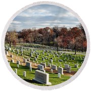 Arlington National Cemetery Hillside Round Beach Towel