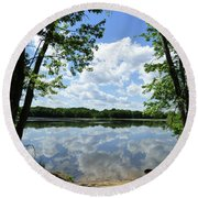 Arlington Reservoir Round Beach Towel