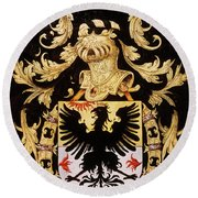 Armorial Plates From The Order Of The Golden Fleece - 5  Round Beach Towel