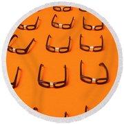 Army Of Nerd Glasses Round Beach Towel