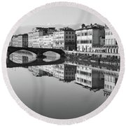 Arno Reflections 1 Round Beach Towel