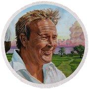 Arnold Palmer Round Beach Towel by John Lautermilch