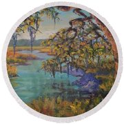Round Beach Towel featuring the painting Aroma by Dorothy Allston Rogers