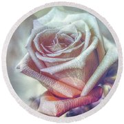 Round Beach Towel featuring the digital art Aromatic Rose by Bonnie Willis