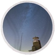 Arouca And The Milky Way Round Beach Towel