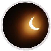 Around Peak Time Eclipse Round Beach Towel