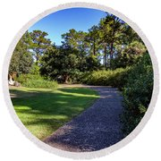 Around The Bend Round Beach Towel