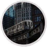 Around The Corner, Chicago Round Beach Towel by Reinier Snijders
