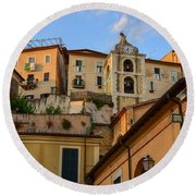 Round Beach Towel featuring the photograph Arpino Colors by Dany Lison