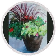 Arrangement Round Beach Towel