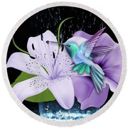 Arrival Hummingbird Round Beach Towel