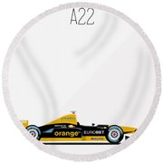 Arrows Asiatech A22 F1 Poster Round Beach Towel