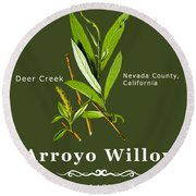Arroyo Willow - Color Round Beach Towel