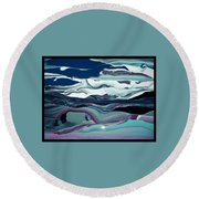Round Beach Towel featuring the painting Art Abstract by Sheila Mcdonald