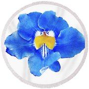 Art Blue Beauty Round Beach Towel
