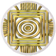 Art Deco 20 Round Beach Towel