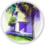 Art Deco Hotel Miami Round Beach Towel