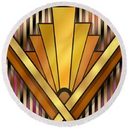 Art Deco 12v Round Beach Towel