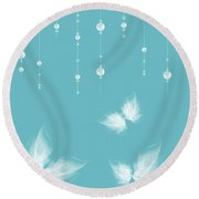 Art En Blanc - S11a Round Beach Towel
