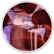 Art From Antelope Canyon Round Beach Towel