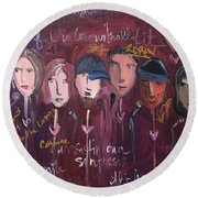 Art From Ashes 2010 Round Beach Towel