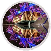 Art Glass Reflection By Chihuly Round Beach Towel