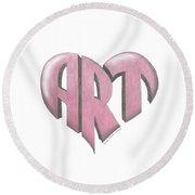 Art Heart Round Beach Towel
