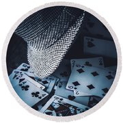 Art Of A Betting Man  Round Beach Towel