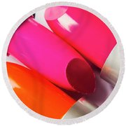 Art Of Beauty Products Round Beach Towel