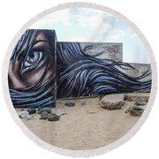 Art Or Graffiti Round Beach Towel