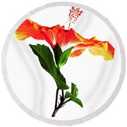 Art Orange Round Beach Towel