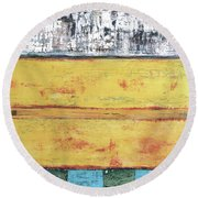 Art Print Abstract 34 Round Beach Towel