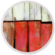 Art Print Abstract 88 Round Beach Towel
