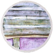 Art Print Abstract 93 Round Beach Towel