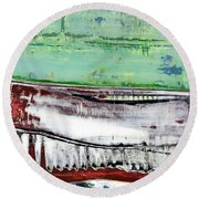Art Print Abstract 97 Round Beach Towel