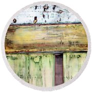 Art Print Abstract 52 Round Beach Towel