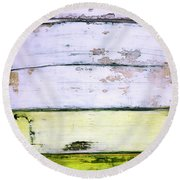 Art Print Abstract 11 Round Beach Towel