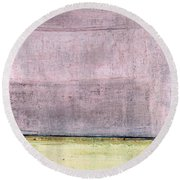 Art Print Abstract 15 Round Beach Towel