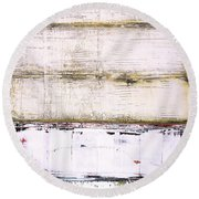 Art Print Abstract 25 Round Beach Towel